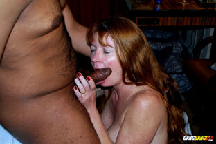 mature interracial anal
