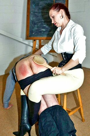 spanked mature woman